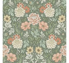 Coloured in a rich and vibrant palette, our Dahlia Garden wallpaper is the perfect pick for elegant interiors. Browse for wallpaper inspiration – order samples with a click! Garden Wallpaper, Of Wallpaper, Pattern Wallpaper, Cosy Cottage, Molduras Vintage, Vintage Floral Wallpapers, Morris Wallpapers, Apple Watch Wallpaper, Wallpaper Calculator