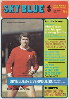 Coventry City 0 Liverpool 2 in Nov 1971 at Highfield Road. The programme cover Coventry City Fc, Football Memorabilia, Cover Pages, Liverpool, Goals, Reading, Division, 1970s, November