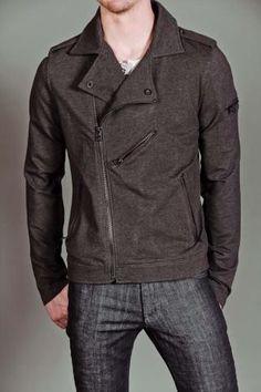 Civil Society Snausage Biker Inspired Jacket H. Dark Grey