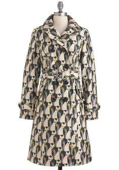 Orla Kiely The Fox of Life Coat | Mod Retro Vintage Coats | ModCloth.com