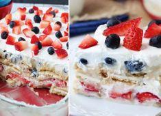 NapadyNavody.sk | Lahodné nepečené ovocné rezy Cheesecake, Deserts, Nutella, Treats, Baking, Ale, Sweet, Food, Mini Pavlova