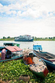 The Jayavarman at Kampong Chhnang, a floating village on Cambodia's Tonle Sap River.