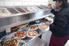 Pizzeria Nail Polish nail polish of july Pizza Menu Design, Pizzeria Design, Restaurant Kitchen Design, Food Cart Design, Food Truck Design, Pizza Restaurant, Mobile Pizza Oven, Diy Pizza Oven, Pizza Kitchen