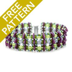 Trifecta Bracelet Pattern for Czechmates | Fusion Beads