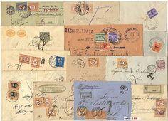 Regno segnatasse - 72 lett./cart. con varie tassazioni tra cui segnatasse 10 c. (Sassone 1 e 2), tassazione con 2 strisce di 5 es. del 2…
