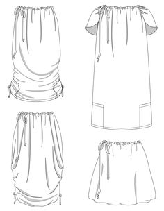 Versalette Line Drawings | Designed By Seamly, Pattern by Indiesew