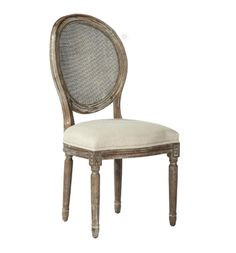 Caned Upholstered Dining Chair