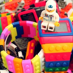 Fashion Color colorific Jelly Candy Student Building block LED Wrist watch