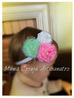 Faixa para bebé  Buque de flores  #MamãCorujaArtesanatos