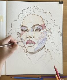 Colorful sketching by Polina Bright - Art interests Cool Art Drawings, Pencil Art Drawings, Art Drawings Sketches, Arte Sketchbook, Bright Art, Cute Paintings, Art Tutorials, Art Inspo, Watercolor Paintings