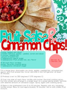 .:* L - Fruit Salsa & Cinnamon Chips (25 Baked Alternatives To Potato Chips And French Fries - BuzzFeed Mobile)