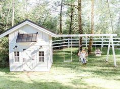 Playhouse Plans - Monika Hibbs - Fenja Bliestle - Re-Wilding Backyard Playset, Backyard Playhouse, Build A Playhouse, Wooden Playhouse, Simple Playhouse, Outdoor Playhouses, Outside Playhouse, Girls Playhouse, Playhouse Kits