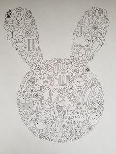 Happy Easter, Easter Bunny, Easter Crafts, Crafts For Kids, Bujo, Doodle Lettering, Easter 2020, Doodle Inspiration, Doodles Zentangles