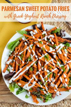 Slimming Eats Syn Free Parmesan Sweet Potato Fries with Ranch Dressing - gluten free, vegetarian, Slimming World and Weight Watchers friendly Healthy Meals To Cook, Healthy Side Dishes, Healthy Cooking, Healthy Eating, Healthy Recipes, Free Recipes, Healthy Food, Lunch Recipes, Slimming World Vegetarian Recipes