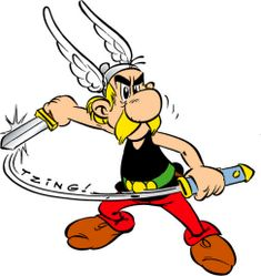 Although he does not have the impressive muscle-bound physique of the heroes Albert Uderzo drew at first, Asterix is the only anti-hero to boast such a collection of success stories and heroic feats.  Throughout his adventures, where his legendary wile and the precious magic potion concocted by the druid Getafix allow him to escape from the direst situations.