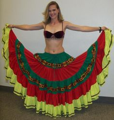 Belly dance 25 yard tribal gypsy skirt made with your measurement