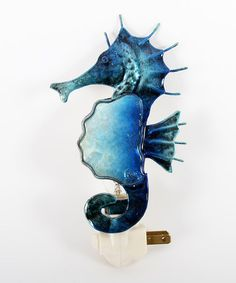 Take a look at this Blue Sea Horse Night-Light by Dennis East International on #zulily today!