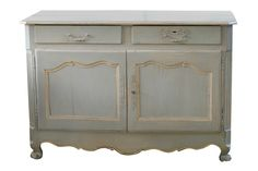 """French country sideboard on cabriole legs. CIRCA: 1890 DIMENSIONS: 36.5"""" h x 53"""" w x 24"""" d"""