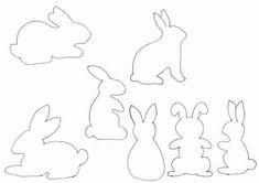 Gabarits de lapins de Pâques