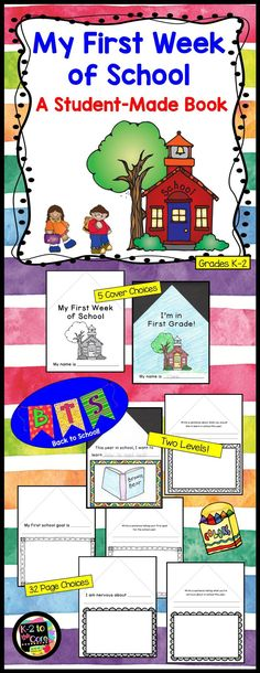 This differentiated writing and illustrating activity is a perfect way to kick off the school year! Each student creates a book about their first week or two of school. This fun and engaging project makes a great keepsake for families. Included in the pac
