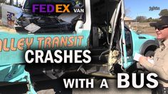 FedEX Van vs Bus in Crash