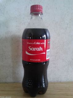Share a Coke with SARAH -One Bottle - Limited Edition Collectible Coca Cola Name #CocaCola