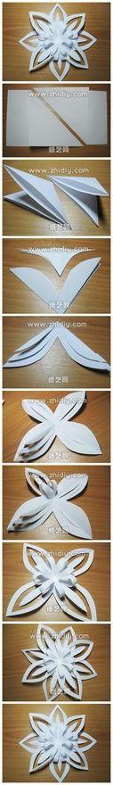 paper flower or snowflake Más
