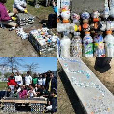 """Yesterday the 7th graders accomplished something amazing. For months they have been working on an Eco Brick Bench saving powerade and gatorade bottles (instead of recycling them) as well as plastic wrappers and other dry waste from their school (which would normally just go in the trash). The trash was stuffed into the bottles which made them like a hard """"brick"""". And yesterday was the final step: the build! The Eco bricks were laid out to make the base of the bench while bottle caps and…"""
