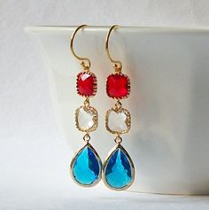 #USA #Red, white and blue #USA Jewelry