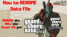 How to RENAME Data GTA 5 Android for Adreno Mali Powe VR Flash Song, Android One, Game Guide, San Andreas, Gta 5, Vr, Geek Stuff, Songs, Games