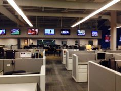 view from the ME's office facing the Continuous news desk