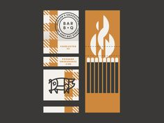 Poogan's Smokehouse #Matchbook cover art To Design & Order your business' own branded #matches GoTo: www.GetMatches.com or call