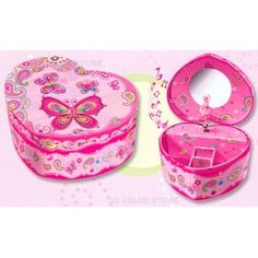 Pecoware Fancy Butterfly Musical Jewelry Box -- Details can be found by clicking on the image. (This is an affiliate link) Musical Jewelry Box, Country Sweatshirts, Little Princess, Pretty In Pink, Heart Shapes, Musicals, Music Boxes, Baby Shoes, Butterfly