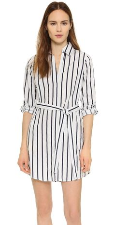 cupcakes and cashmere Florence Striped Shirtdress | SHOPBOP