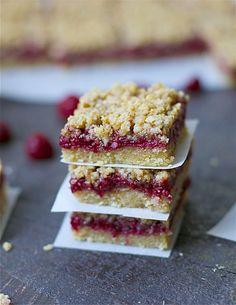 Paleo Raspberry Crumb Bars - Wholesomelicious