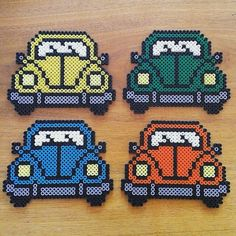 Volkswagen cars coaster set perler beads by karypao_9008