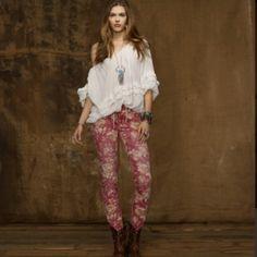 Ralph Lauren Denim - Ralph Lauren denim & supply floral skinny jeans
