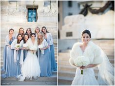 Winter downtown Indianapolis wedding / LinneaLiz Photography / www.LinneaLiz.com