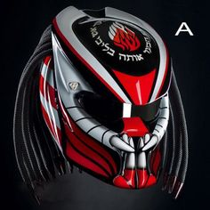 Predator Helmet Color Style Motorcycle Custom DOT approved Source by Motorcycle Events, Motorcycle Style, Motorcycle Helmets, Predator Helmet, Predator 2, Helmet Accessories, Custom Helmets, Sportbikes, Japan Fashion