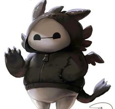 Baymax-toothless...CUTEEEEE
