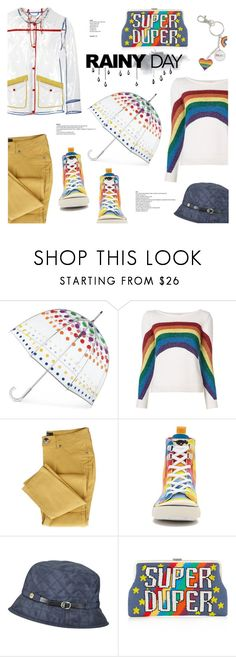 """Rainbow rain"" by edita1 on Polyvore featuring Totes, Marc Jacobs, Rocket Dog, Karen Kane, Sarah's Bag and rainyday"