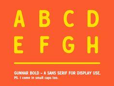 Gunnar Bold - A font in progress by Daniel Feldt