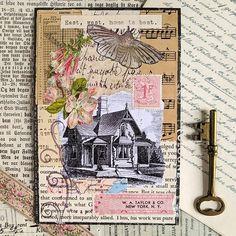 A Fabric junk journal - Margarete Miller Collages, Collage Artists, Art Journal Pages, Journal Cards, Art Journaling, Journal Covers, Bullet Journal, Junk Journal, Vintage Ephemera