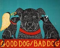 Good Dog Bad Dog-Giclee