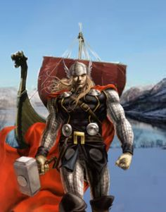 Speedy's first meeting with Thor in his viking adventure
