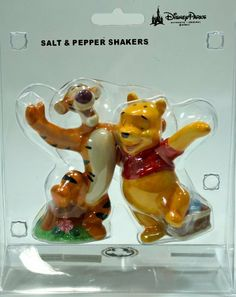 Disney Parks Winnie the Pooh & Tigger Salt / Pepper Shaker - Disney Parks Exclusive & Limited Availability by Disney. $22.95. Couldn't ask for a better pair then these best pals Winnie the Pooh and Tigger as they make a great pair for your salt and pepper shaker to set as your kitchen decoration.. Save 26% Off!