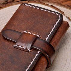 Handmade Vegetable Tanned Leather Slim Wallet & от RayliHandmade