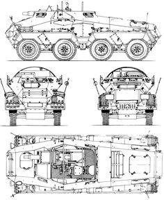 Schwerer Panzerspähwagen blueprint