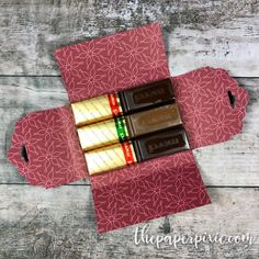 Merci Chocolate Trio Box with Video Tutorial - The Paper Pixie, Hot Chocolate Gift Basket, Chocolate Gifts, Chocolate Boxes, Merci Chocolate, Pixie, Paper Purse, Candy Favors, Favours, Treat Holder