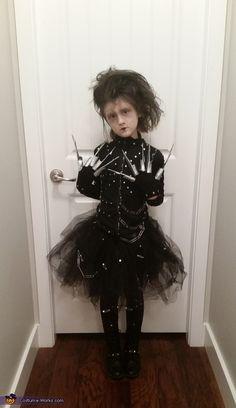 Miss Edward Scissor Hands - Homemade Halloween Costume